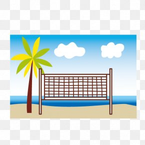 Beach Volleyball Net - Beach Volleyball Illustration PNG