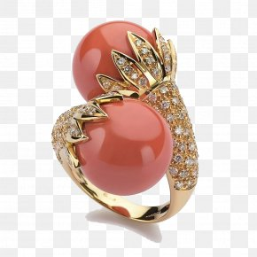 Stone Ring - Jewellery Coral Ring Goldsmith PNG