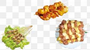 Spicy Food, Barbecue Kebabs, Potatoes - Barbecue Kebab Chuan Vegetarian Cuisine Street Food PNG