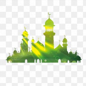 Vector Green Building - Kaaba Eid Al-Fitr Eid Mubarak Eid Al-Adha Illustration PNG