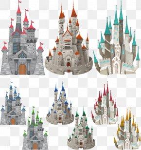 Flat Castle Design. - Middle Ages Age Of Enlightenment Castle Illustration PNG
