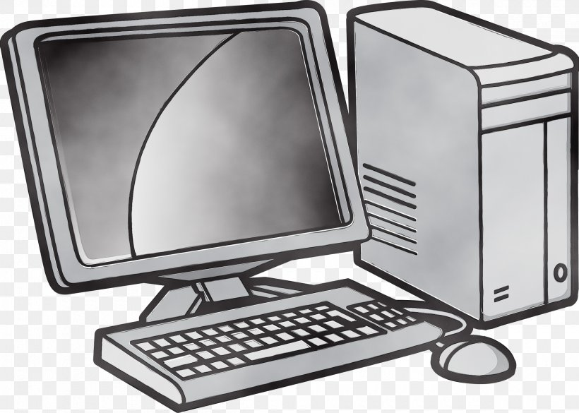 Personal Computer Output Device Desktop Computer Computer Hardware Computer Monitor Accessory, PNG, 2400x1715px, Watercolor, Computer Hardware, Computer Keyboard, Computer Monitor Accessory, Desktop Computer Download Free