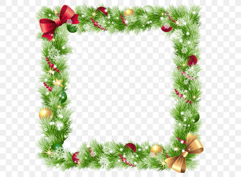 Square Christmas Border Element, PNG