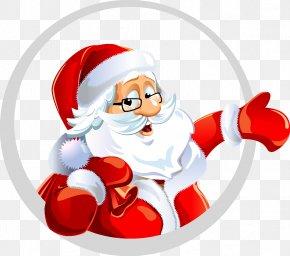 Santa Claus - Santa Claus Christmas New Year's Day Wish Clip Art PNG