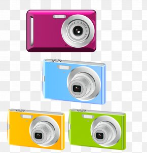 Vector Fashion Color Digital Camera - Digital Camera PNG