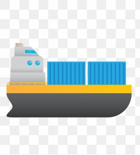Blue Sailing Ship - Ship Intermodal Container Freight Forwarding Agency Port Of Odessa PNG