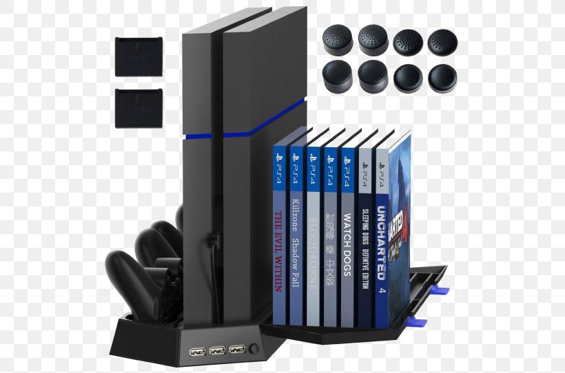 PlayStation 4 Battery Charger Video Game Console Game Controller, PNG, 542x542px, Playstation 4, Battery Charger, Bookend, Computer Fan Control, Dualshock Download Free