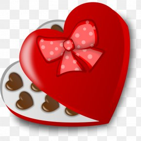 Chocolate Box - Valentine's Day Chocolate Candy Heart Clip Art PNG