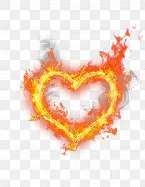 Heart-shaped Fire - Heart Fire Flame PNG
