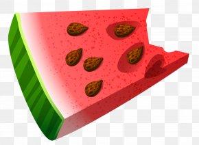 Bitten Piece Of Watermelon Clipart Picture - Watermelon Fruit Clip Art PNG