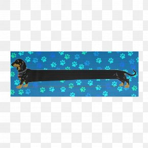 Yoga Dogs - Dachshund Turquoise Yoga & Pilates Mats Aqua Electric Blue PNG