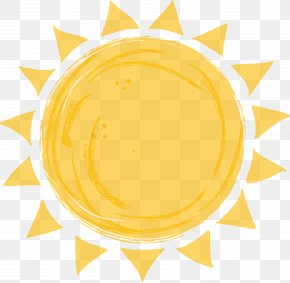 Vector Hand Painted Sun - Euclidean Vector Painting Clip Art PNG