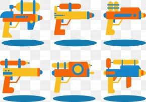 Flat Water Gun - Water Gun Toy Flat Design PNG