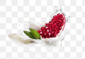 Red Pomegranate Particles - Pomegranate Food Photography Breakfast PNG