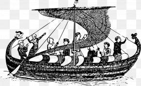 Boat People - Viking Age Viking Ships Illustration PNG