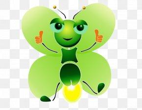 Green Firefly - Butterfly Cartoon Light PNG