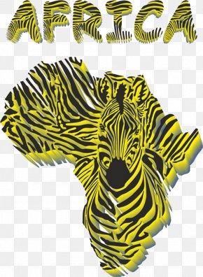African Map Texture - Africa Giraffe Zebra Illustration PNG
