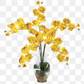 Flower Vase - Moth Orchids Artificial Flower Silk PNG