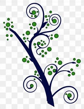 Swirl Branch - Branching Clip Art PNG