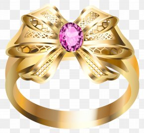 Ring With Diamond - Earring Jewellery Diamond Gold PNG