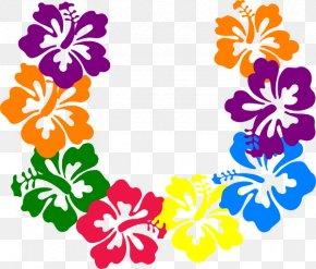 Hawaiian Cartoon Cliparts - Hawaii Lei Frangipani Clip Art PNG