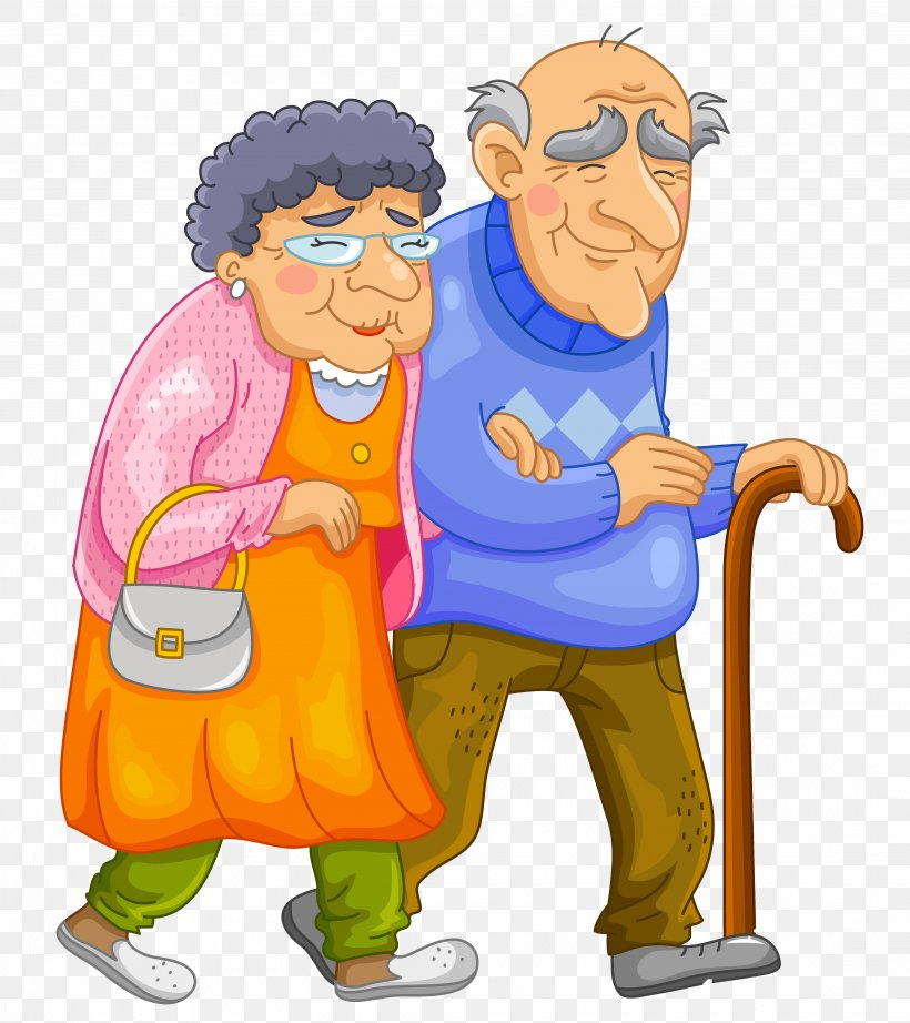 Old Age Cartoon Clip Art, PNG, 4446x5000px, Old Age, Art, Cartoon, Drawing, Fictional Character Download Free