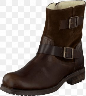 Boot - Leather Boot Shoe Suede Brown PNG