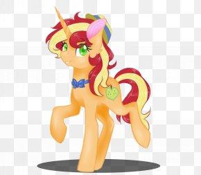 Golden Horse - Pony Horse Cartoon Figurine Legendary Creature PNG