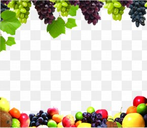 Fruit Border - Juice Fruit Vegetable Food Grape PNG