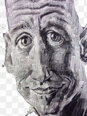 Chalk Portraits Of Original Portraits - Visual Arts Portrait Black And White PNG