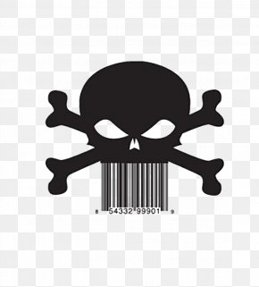 Skull Two-dimensional Code - Barcode Reader Universal Product Code QR Code PNG
