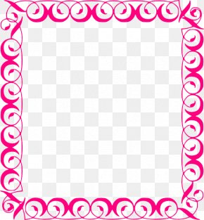Fuchsia Border Frame File - Clip Art PNG