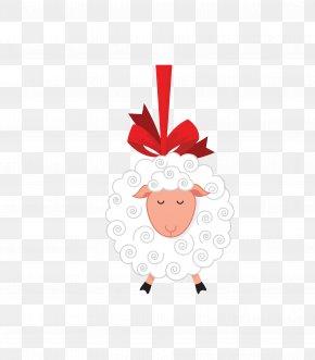 Vector White Hanging Lamb Animals - Eid Al-Adha Holiday Tabrik Muharram Sacrifice PNG