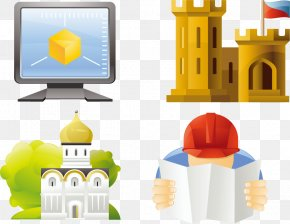 School Computer Vector Material - Cartoon Mosque PNG