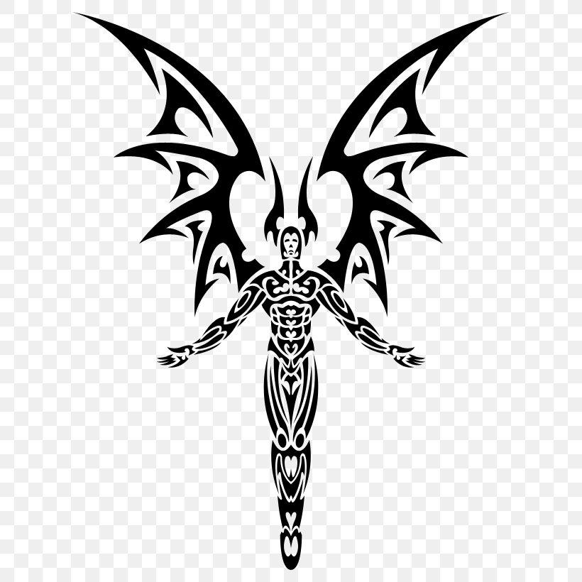 Sleeve Tattoo Demon Angel Devil Png 650x820px Tattoo Angel Art Black And White Bone Download Free