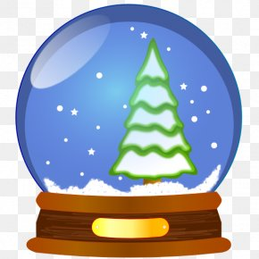 Animated Globe Clipart - Snow Globe Christmas Clip Art PNG