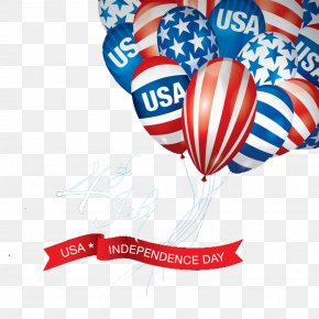 Independence Day Celebration Balloons - Flag Of The United States Independence Day Labor Day PNG
