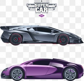 Cool Car Vector - Sports Car Luxury Vehicle Illustration PNG
