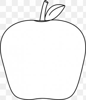 Black And White Outline - Black And White Apple Download Clip Art PNG