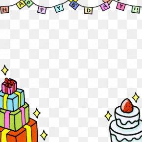 Flag And Birthday Cake - Birthday Cake PNG