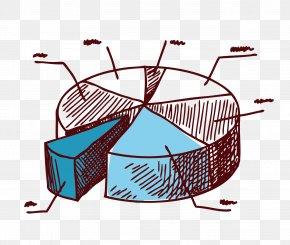 Vector Artwork Cartoon Creative Pie Chart - Pie Chart Drawing PNG