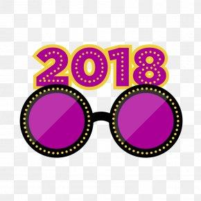 Winter Bash - Sunglasses Logo Goggles Pink M PNG