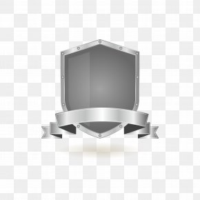 Retro Silver Protective Shield To Pull Material Free - Euclidean Vector Download Shield Gratis Icon PNG