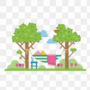 Colored Trees - Vector Graphics Stock Illustration Drawing PNG