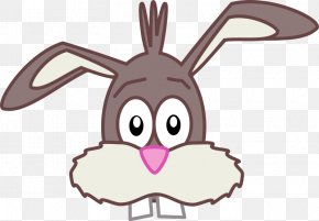 Funny Bunny Cliparts - Easter Bunny Hare Rabbit Clip Art PNG