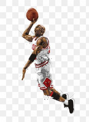Hand-painted Basketball Player - Chicago Bulls NBA North Carolina Tar Heels Men's Basketball Minnesota Timberwolves PNG