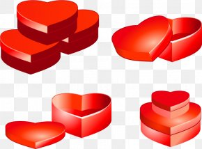Valentine's Day - Valentine's Day Gift Heart Box PNG