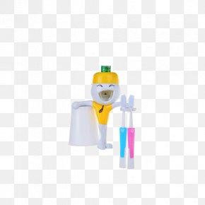 Ah Q Aberdeen Creative Toothbrush Holder Yellow - Designer PNG