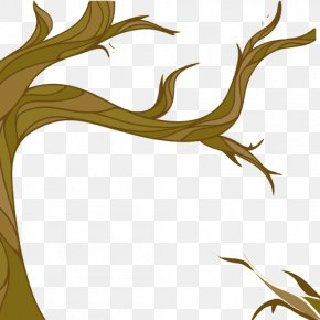Branches Trees Stretched Hand Painting Material Picture - Autumn Tree Download Illustration PNG