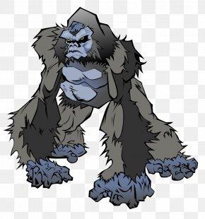 Gorilla Clip - Baby Gorillas Cartoon Drawing Clip Art PNG